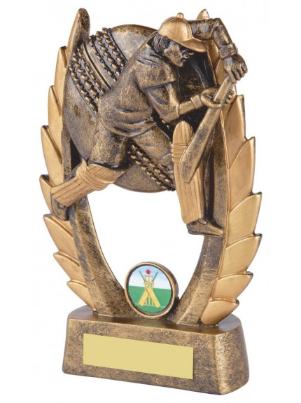 19cm Gold Resin Cricket Batsman Award