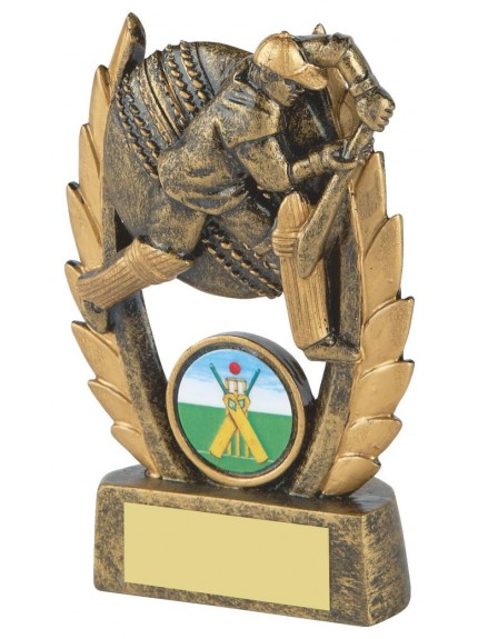 Laural Leaves Gold Resin Cricket Batsman Award