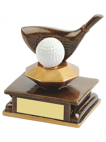 11cm Gold Resin Golf Driver Award