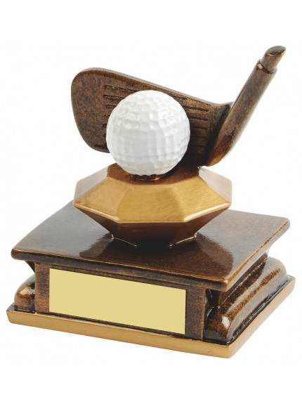 11cm Gold Resin Golf Wedge Award