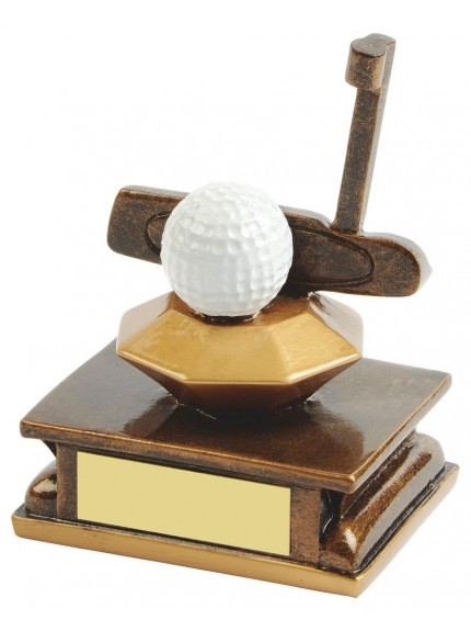 11cm Gold Resin Golf Putter Award