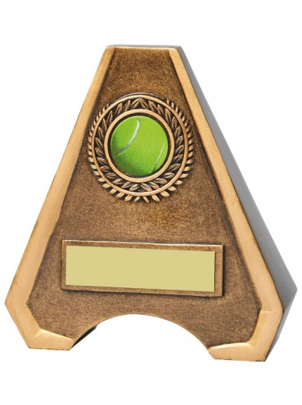 Antique Gold Resin Tennis Award