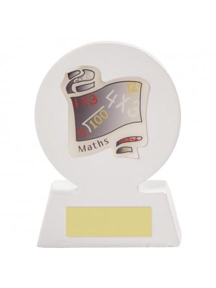 11cm White Resin Scroll award