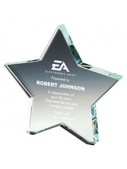 Crystal Star Award - Available in 3 sizes