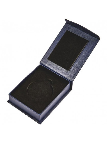 Blue Medal Case with Magnetic Fastening (50mm Medals)