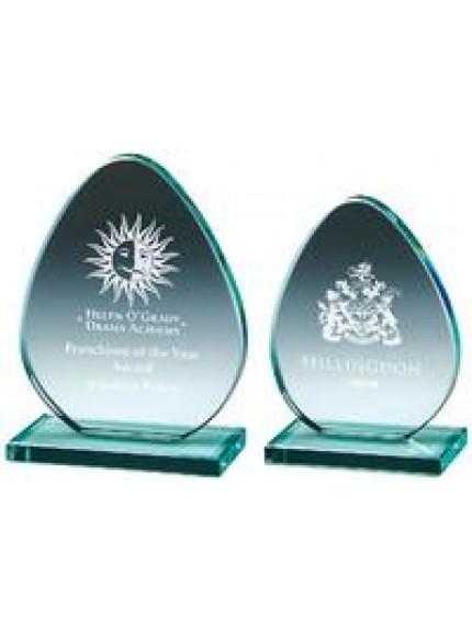Jade Glass 'Egg' Award - 2 Sizes