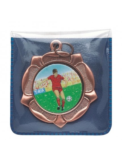Blue Plastic Medal Wallet with Clear Front (45mm Medals)