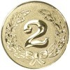 2ND CENTRE - GOLD 1in