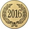 2016 YEAR DATE CENTRE - GOLD 1in