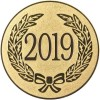 2019 YEAR DATE CENTRE - GOLD 1in
