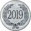 2019 YEAR DATE CENTRE - SILVER 1in