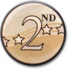 2nd Award Centre Gold 25mm