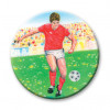 Footballer Red/White 25mm