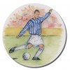 Footballer Blue & White Stripe 25mm
