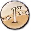1st Award Centre Gold 25mm