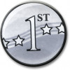1st Award Centre Silver 25mm