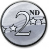 2nd Award Centre Silver 25mm