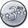3rd Award Centre Silver 25mm