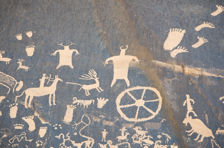 Cave painting on a wall
