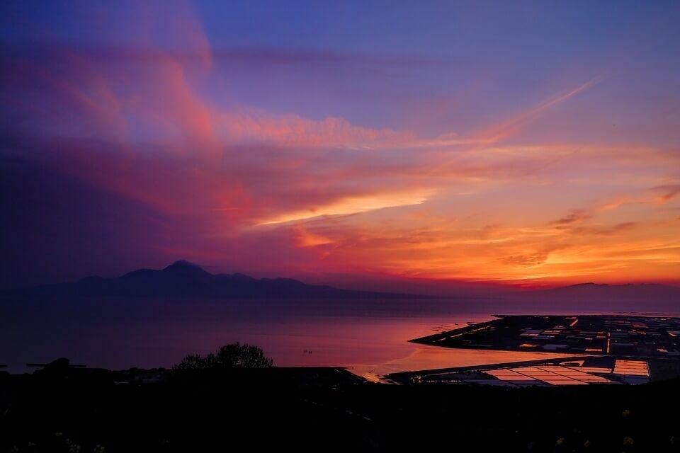 Sunset over Ariake