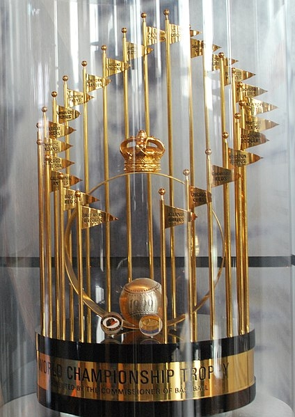 THE MLB COMMISSIONER'S TROPHY ON DISPLAY