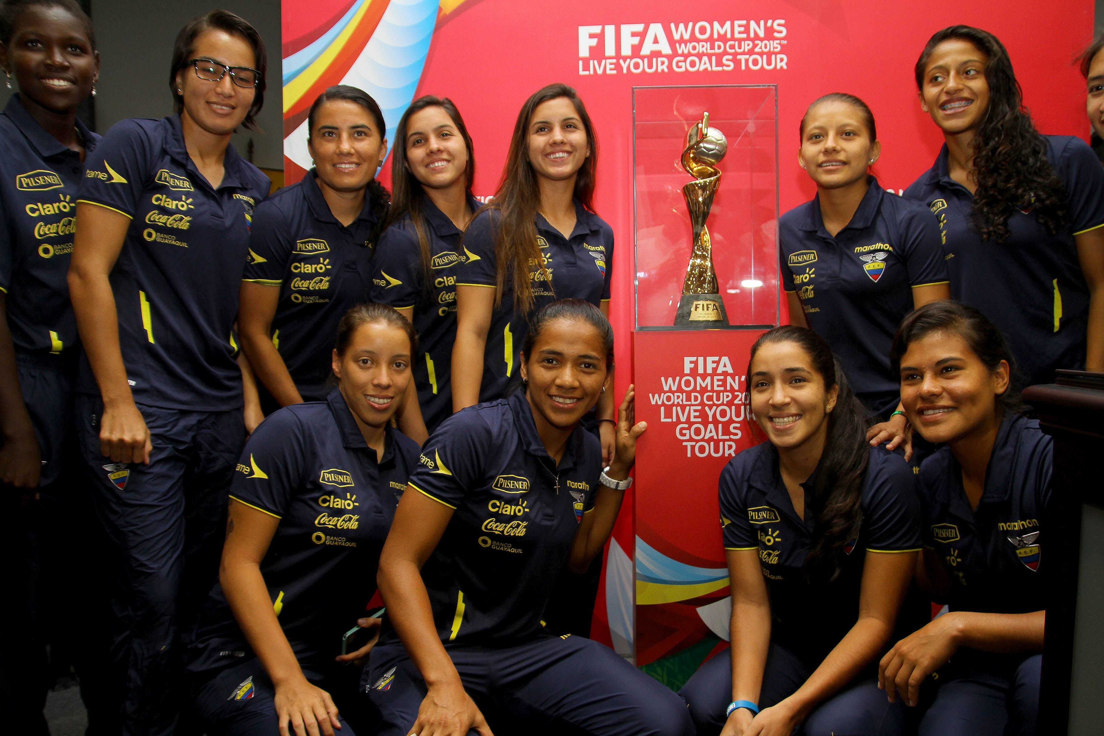 The women's world cup trophy