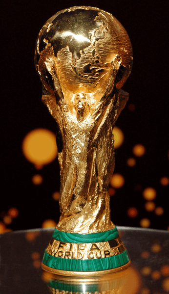THE FIFA WORLD CUP TROPHY ON DISPLAY