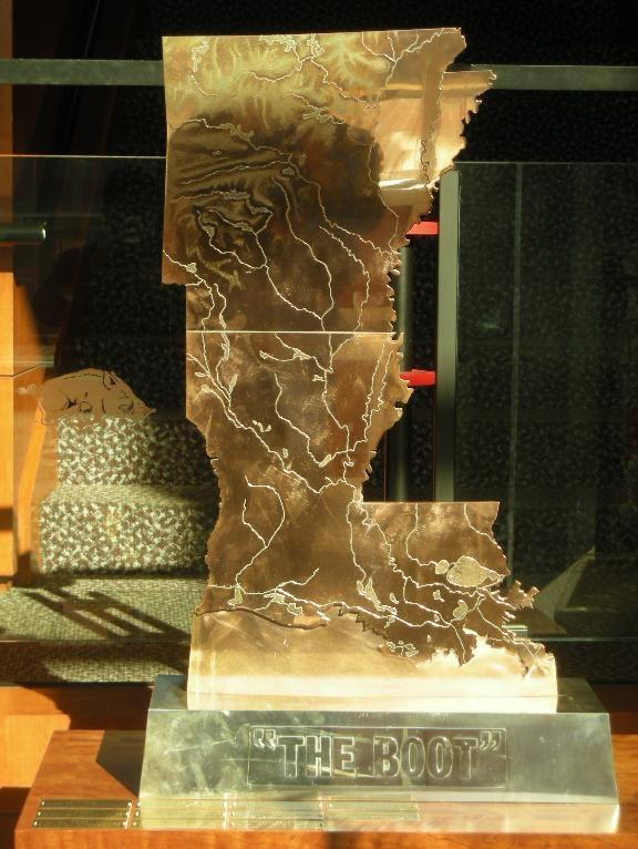 Weird Golden Boot Trophy