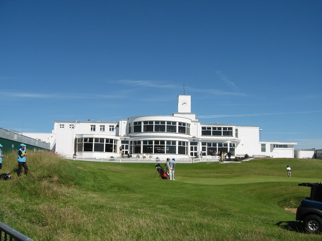 Royal Birkdale golf course - Final hole in front of the club house