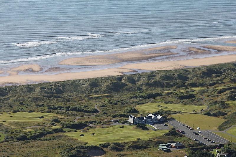 Trump International Golf Links, Scotland - Arial View
