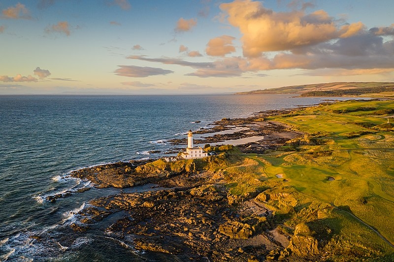 Trump Turnberry Resort lighthouse at sunrise