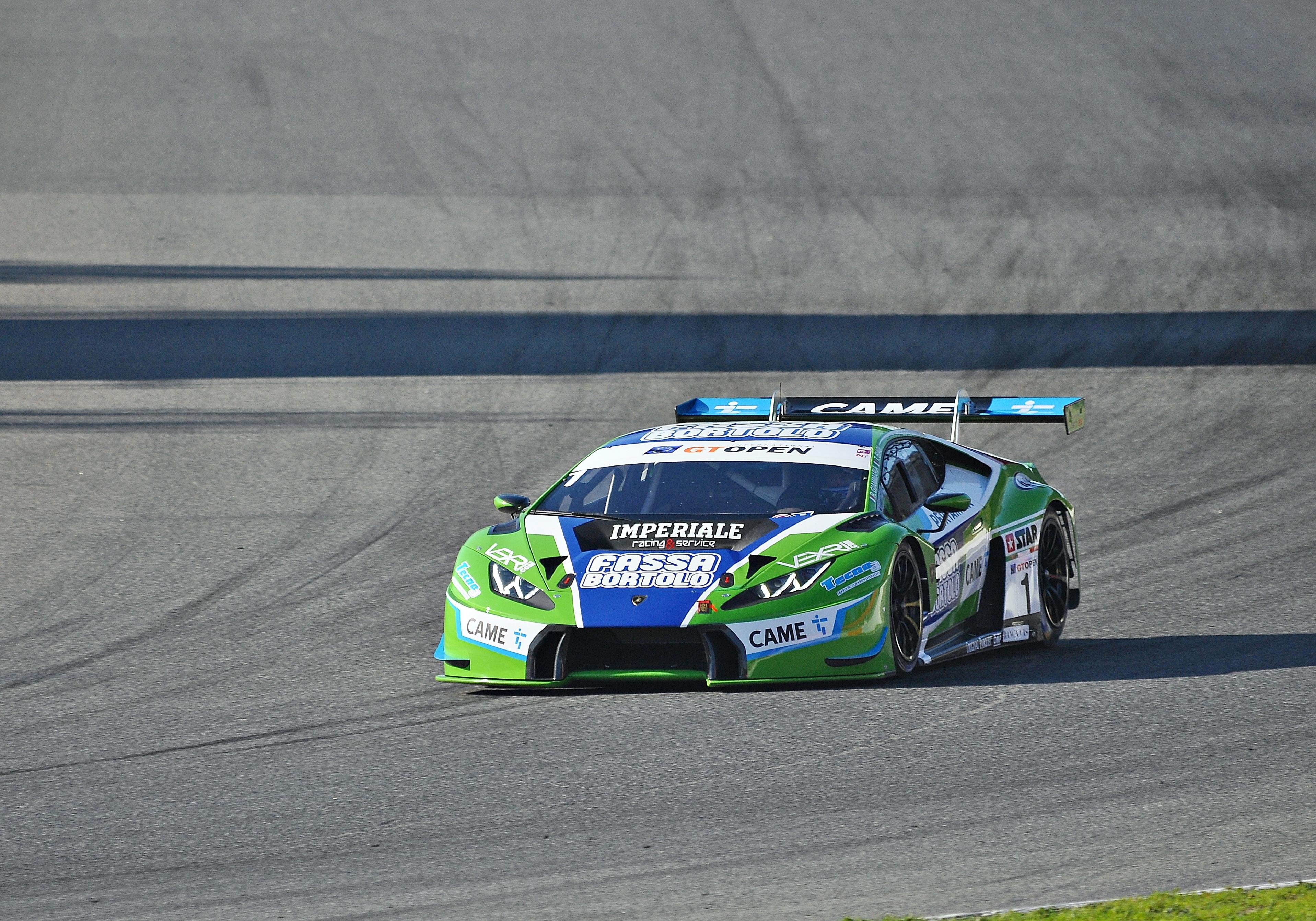 Lamborghini Huracan on a race track