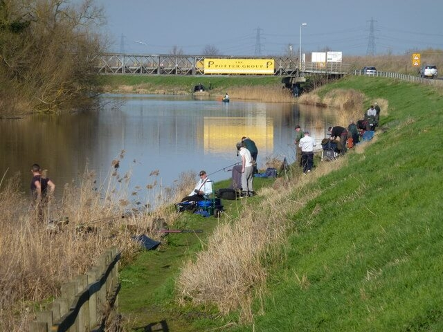 A match with competing anglers on the river Ouse.
