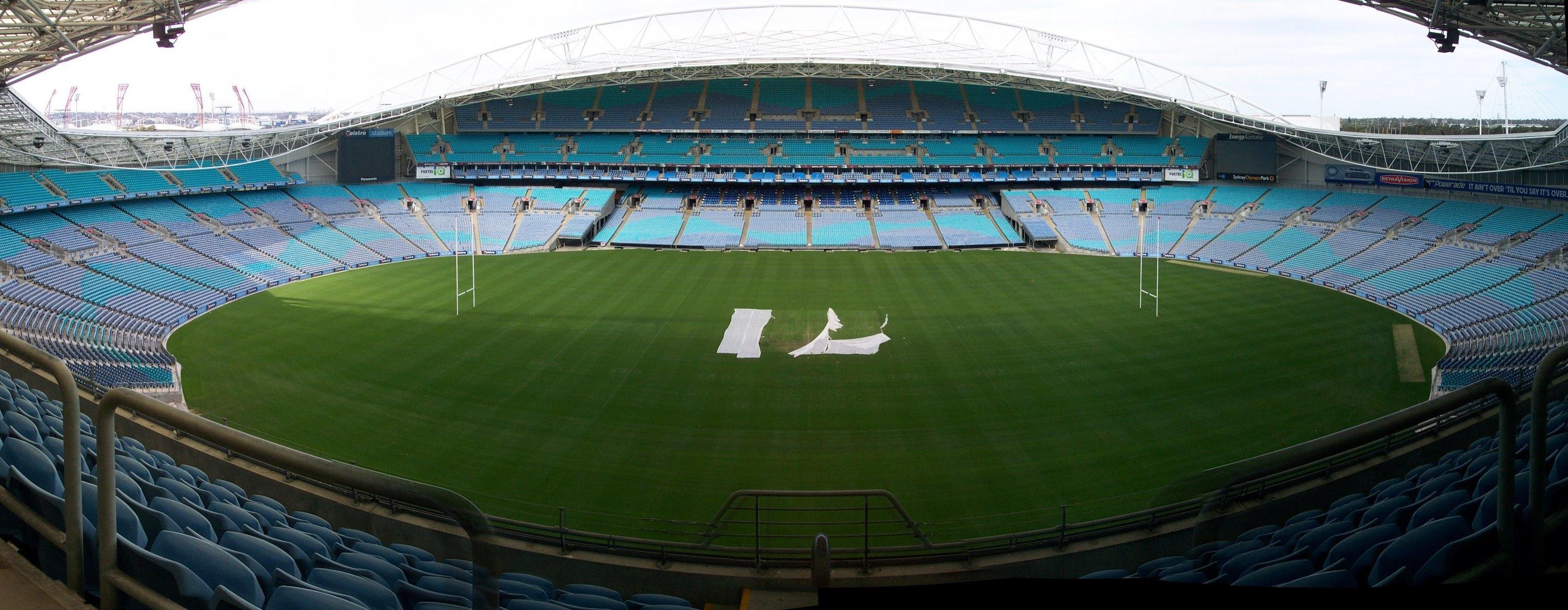 The Telstra Stadium in Sydney, Australia where England won the RWC