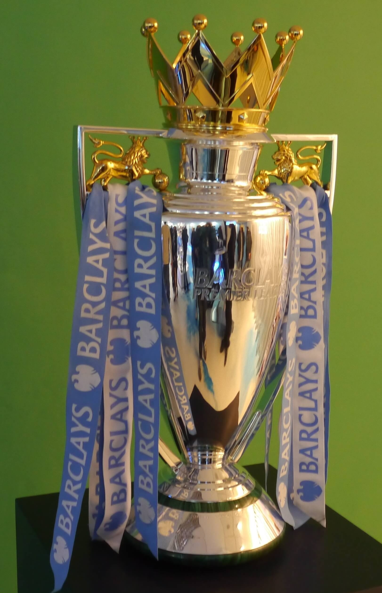 The Premier League Trophy on Display
