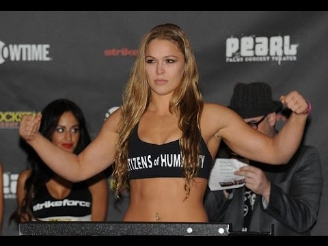 Ronda Rousey Posing at a weigh-in