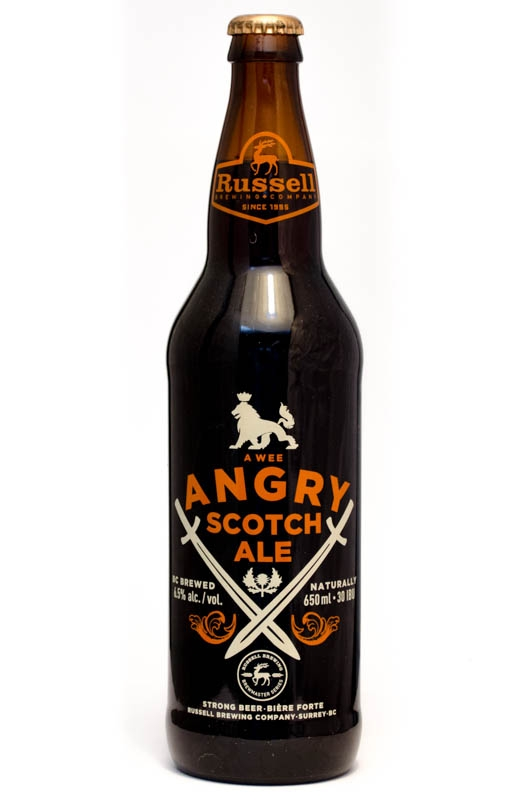 A bottle of Angry Scotch Ale
