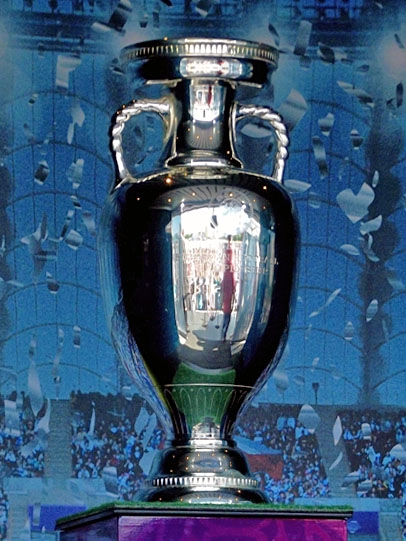 THE HENRI DELAUNAY TROPHY ON DISPLAY