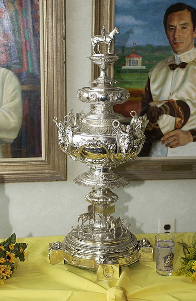 WOODLAWN VASE HORSE RIDING TROPHY ON DISPLAY